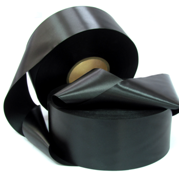 Сатиновая лента эконом черная PS999B