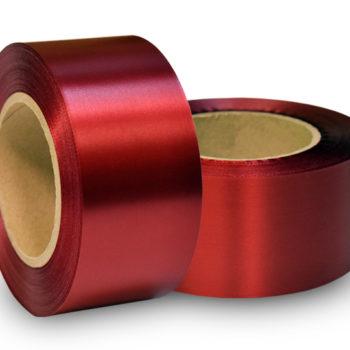 Сатиновая лента эконом темно-красная PS999C